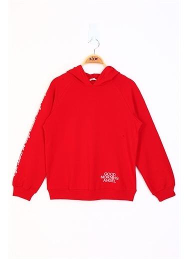 Toontoy Kids Toontoy Kız Çocuk Reglan Kol Sweatshirt Kırmızı